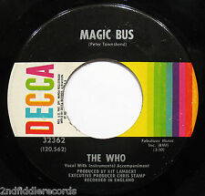 THE WHO-Magic Bus & Someone's Coming 45-DECCA #32362-Pete Townshend-Keith Moon