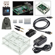 EEEKit for Raspberry Pi B+/Pi 2 Model B,Crystal Clear Case Box+Wifi USB Dongle