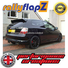 rallyflapZ HONDA CIVIC TYPE R EP3 (2001-2007) Mud Flaps Mudflaps Black 3mm PVC