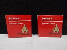 2x Farbband, Typewriter ribbon, Barock, Schwartz / Rot, Doppelspule
