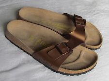 NEW Papillio By Birkenstock Ladies Bronze Gold Brown Mules Sandals Size 7 EU 40
