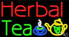 "NEW ""HERBAL TEA"" 37x20 LOGO REAL NEON SIGN W/CUSTOM OPTIONS 11303"