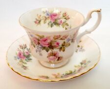Royal Albert Moss Rose Tea Cup and Saucer China - Vintage crockery