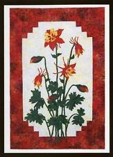 Columbine Flower Cleo's Designs Fusible Applique Quilt Pattern