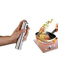 Portable Stainless Steel Olive Pump Spraying Bottle Sprayer Can Oil Jar Pot Tool