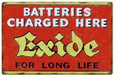 Reproduction Exide Battery Charger Sign