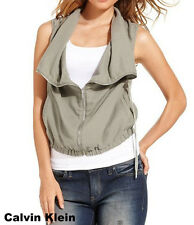 $79.50 NWT Calvin Klein Jeans Vest Zip Casual Shirt Top Fashion Jacket Large -