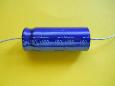 1 x Nichicon 100uF @ 100V HI END AXIAL ELECTROLYTIC CAPACITOR