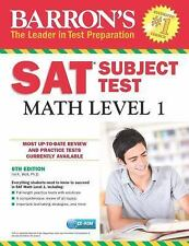 NEW - Barron's SAT Subject Test: Math Level 1 with CD-ROM, 6th Edition