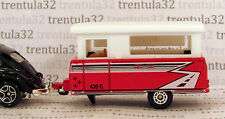 POP-UP TRAVEL TRAILER CAMPER red white Camping 1:64 rare Matchbox Loose