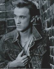 Tom Felton Harry Potter Malfoy B&W Hand Signed 8x10 Autographed Photo w/COA