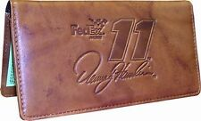 Denny Hamlin Rico Industries #11 Fed Ex Leather Embossed Checkbook Cover