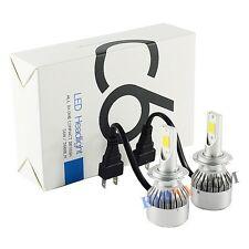 H7 CREE COB LED Headlights Kit 72W 7600LM/Set Xenon White Super Bright
