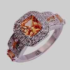 Neu Damen Herren Morganit Topas Edelstein Sterlingsilber 925 Ring Gr.17,8 mm