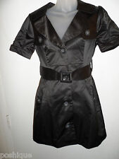 bebe NWT XS Pleated Sleeve Trench Trench Jacket Dress Career Work Button Coat