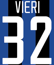 Inter Milan Vieri Nameset Shirt Soccer Number Letter Heat Print Football H 02