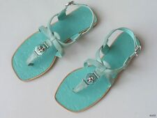 new MARC JACOBS logo TURNLOCK mint sandals FLATS shoes 37 US 7
