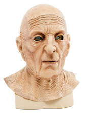 Overhead Old Wrinkly Man Rubber Mask Bald Head Fancy Dress Party Accessory New