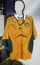WALLABIES Jersey QUANTAS AUSTRALIA RUGBY UNION Men's L, Excellent~Team Replica