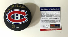 MAURICE RICHARD SIGNED MONTREAL CANADIENS PUCK PSA/DNA COA Y54613