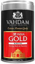 VAHDAM, India Gold, Tin Caddy - STRONG, RICH & FLAVOURY BLACK TEA, 100% Pure,...