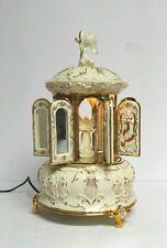 Mr. Christmas Carillon Ivory Gold Cream Porcelain Musical 16 Song Music Box VTG