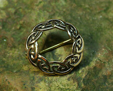 Broche Apprêt Bronze Celtes Celtique irlandais Motif noeuds Celtic Viking