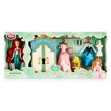 Disney Store The Little Mermaid Ariel Wardrobe Mini Doll Figure Play Set Dresses
