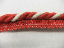 8MM FLANGED CORD/ROPE PIPING RED AND WHITE HT 05