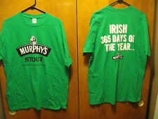 MURPHY'S STOUT County Cork ~ IRISH 365 Days of the YEAR ~ LRG Beer PROMO T Shirt