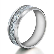 Size 6-12 Fashion Unisex Stainless Steel Crystal Ring Men/Women's Wedding Band