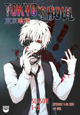 DVD Tokyo Ghoul Season 1+ 2 (Vol. 1 - 24 End) + 2 OVA with English Audio Uncut