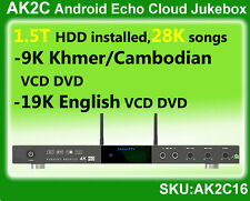 Android Cloud HDD ECHO Karaoke Jukebox,1.5T,Khmer/cambodian+English songs