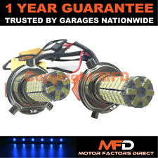 2X CANBUS BLUE H4 120 SMD LED MAIN BEAM BULBS FOR RENAULT KANGOO MEGANE TRAFIC