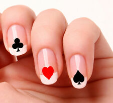 20 Nail Art Decals Transfers Stickers #76 - Poker Cards