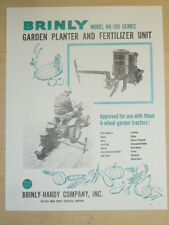 VINTAGE BRINLY GARDEN PLANTER / FERTILIZER #KK-100 SPEC SHEET for TRACTORS