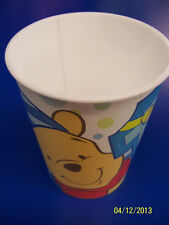 RARE Winnie the Pooh 1st Birthday Boy Blue Kids Party Favor 16 oz. Plastic Cup *