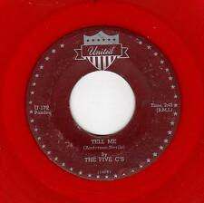 RARE CHICAGO DOOWOP-FIVE C'S-UNITED 172-TELL ME/WHOO-WEE BABY (RED WAX)