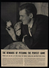 1956 YANKEES DON LARSEN Pitches Perfect Game - 3 Page Magazine Article & Photos