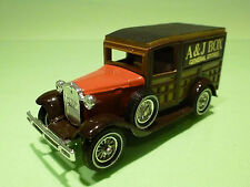 MATCHBOX LESNEY Y21 FORD MODEL A - A.J. BOX STORES - RARE SELTEN - NEAR MINT