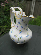 VINTAGE Franklin Mint Porcelain Creamer Pitcher/Jug  with BLUE FLORAL