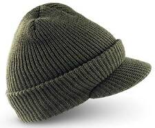 "Military style Visor Beanie Ski "" Jeep "" Watch Cap / Hat -  One size fits most"