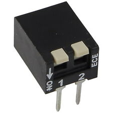2 ECE EPH-102-LZ DIP-Schalter 2-polig Piano 24V DC 25mA DIL Switch RM2,54 855922