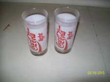 2 VERRE PUBLICITE COCA COLA LIGHT COLLECTOR DRINK ADVERTISING SODA