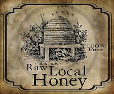Primitive Raw Local Honey Bee Skep Print 8x10