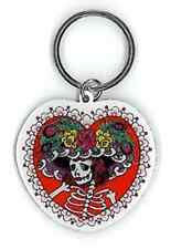 32011 Sugar Skull By Sunny Buick Skeleton Dead Rose Keychain Key Ring Chain Fob