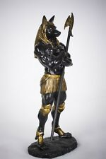God of the Dead Egyptian Dark Lord Anubis Statue The Mummy Black and Gold Figure