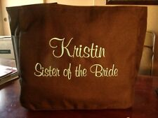 5 CHEAP Bride Wedding TOTE BagS FRIEND BRIDAL GIFT BRIDESMAIDS EMBROIDERED