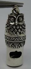 ~NEW ANTIQUE STYLE SILVER MINIATURE WORKING OWL WHISTLE-HARRY POTTER FAN~