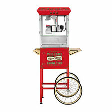 Great Northern 10 oz. Perfect Popper Popcorn Machine with Cart - Red